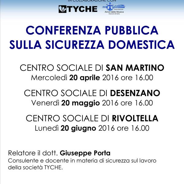 Conferenza pubblica sulla sicurezza domestica: 3 incontri con il Comune di Desenzano D/G